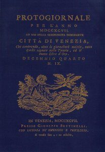 Protogiornale per l'anno 1797 e il nuovo libro d'oro