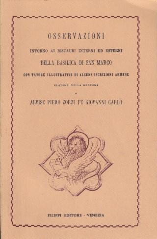 Osservazioni intorno ai restauri della Basilica di S. Marco
